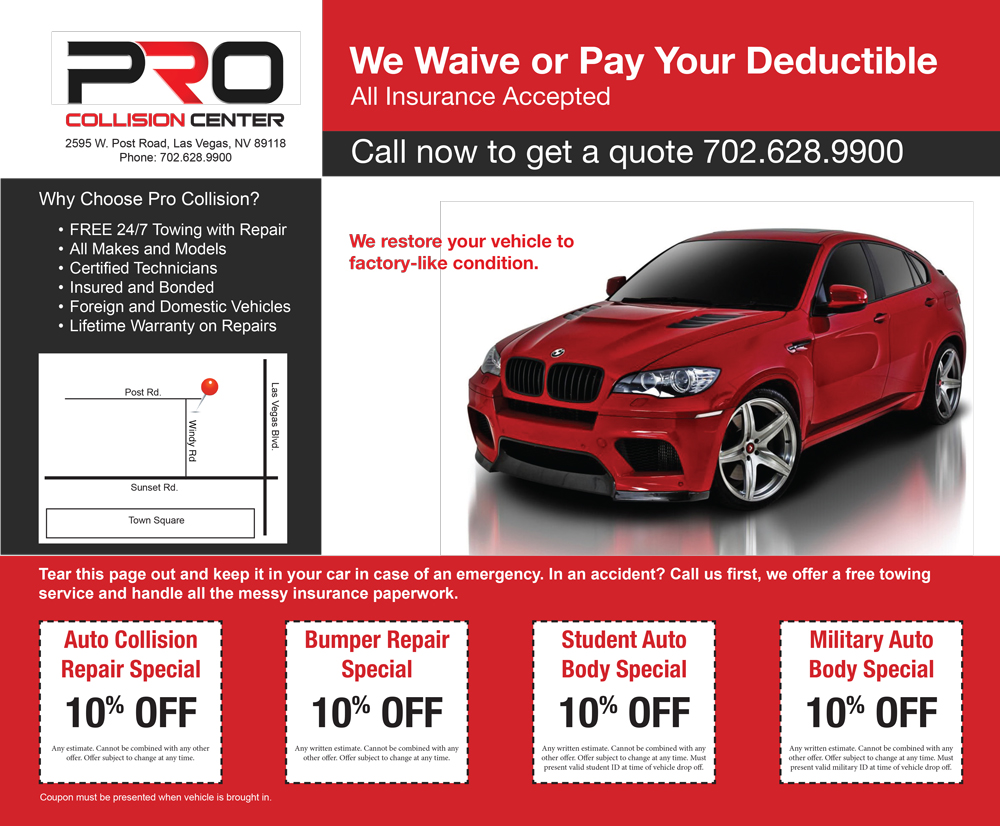 auto body shop promo discount