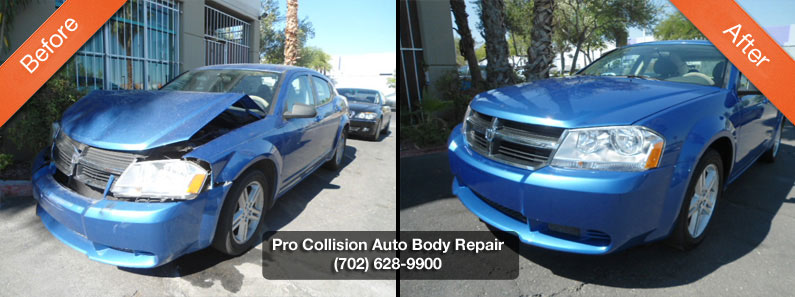 dodge avenger body before after