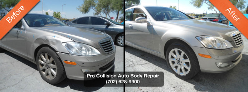 Aluminum auto body repair pro collision center for Mercedes benz auto body shop
