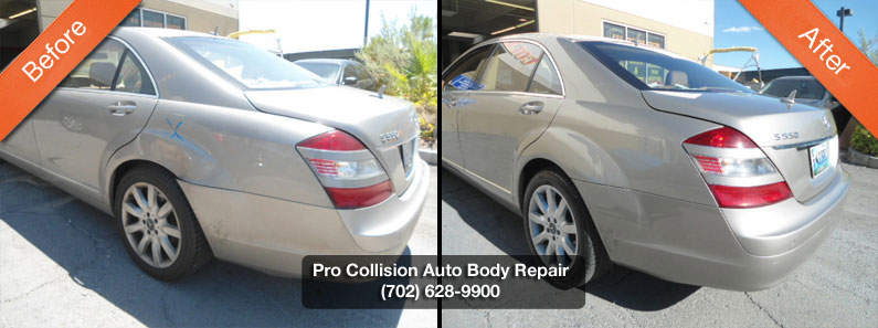Examples of auto body repair pro collision center for Mercedes benz body repair