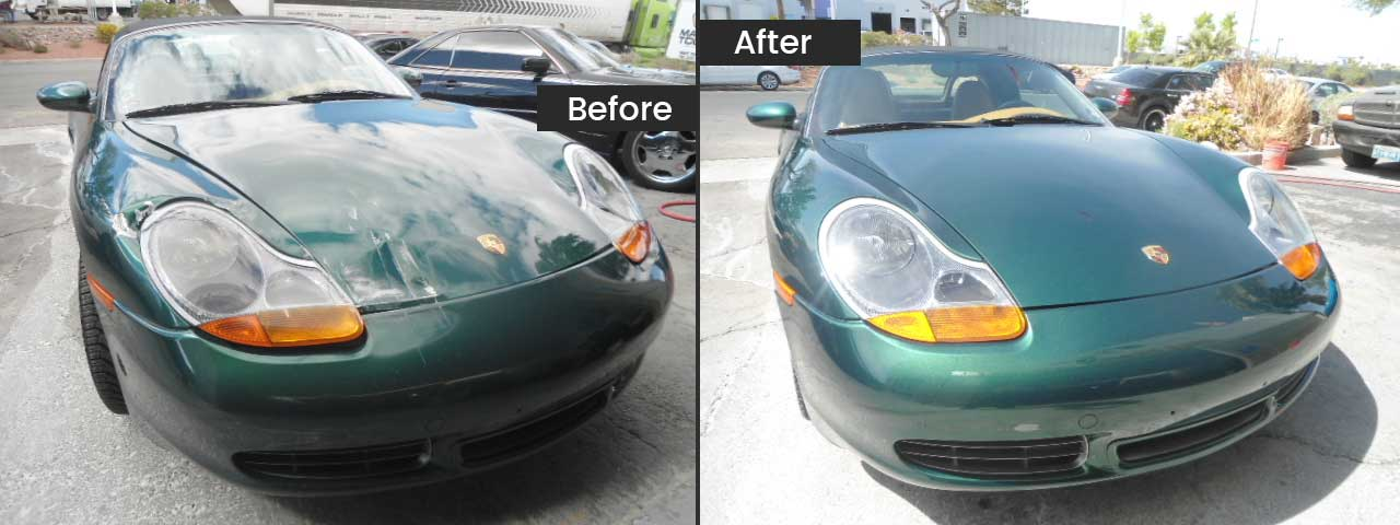 Porsche before and after